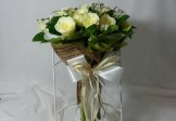 Modern Love White Roses in Bouquet