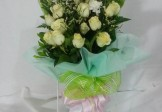 Love White Roses in Bouquet