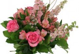 Love Pinky Roses in Bouquet